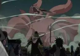 九尾と戦うヒルゼン
